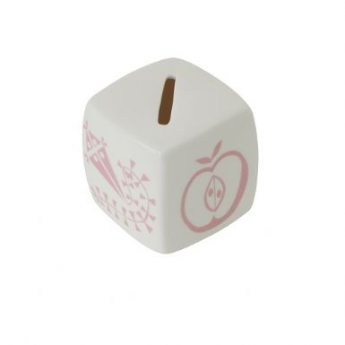 Pink Motif Hand Painted Money Box | Patrizia Wigan Designs